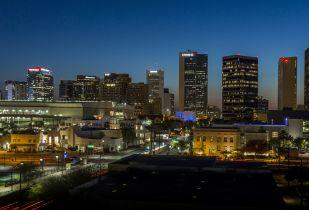 Camden Copper Square apartments in Downtown Phoenix, Arizona.