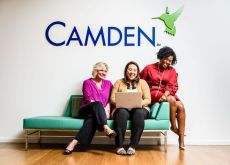 Camden women team members working together
