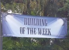 Building of the Week Sign