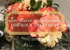 Easy Flower Arrangement for an Apartment