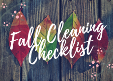 Heard of spring cleaning? Try doing a fall cleaning!