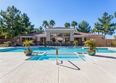 a view of the pool at Camden Pecos Ranch a chandler apartment