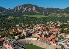 University of Colorado Boulder, university with mountains in background