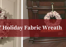DIY Holiday Fabric Wreath