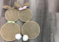 Easy DIY Cute Burlap Bunny