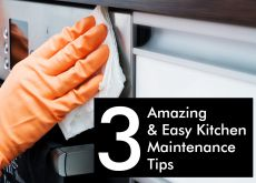 3 Easy Kitchen Maintenance Tips