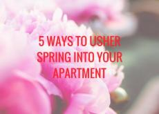 5 Ways to Usher Spring Into Your Apartment
