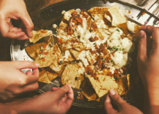 Header image with a plate of nachos