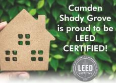 Camden Shady Grove is Proud to be LEED CERTIFIED