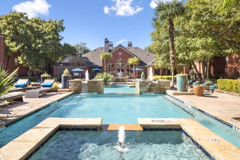 Resort-Style Pool at Camden Addison Apartments in Addison, TX