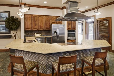 Entertaining Kitchen at Camden Amber Oaks Apartments in Austin, TX