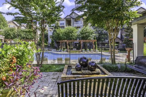 Outdoor Relaxation Lounge Camden Asbury Village Apartments in Raleigh, NC