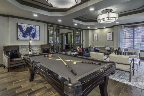 Resident Lounge with Pool Table Camden Asbury Village Apartments in Raleigh, NC