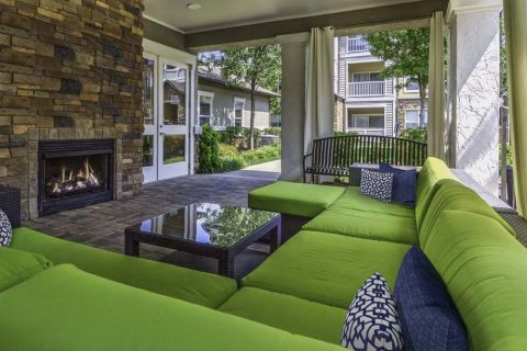 Outdoor Lounge Camden Asbury Village Apartments in Raleigh, NC