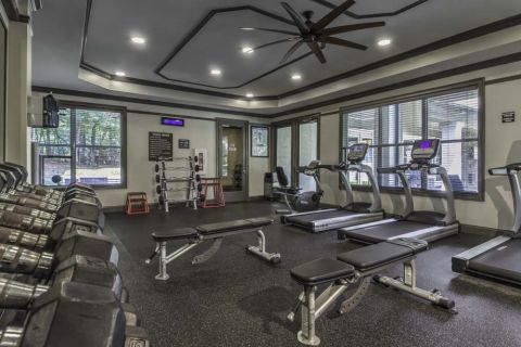 Fitness Center Camden Asbury Village Apartments in Raleigh, NC