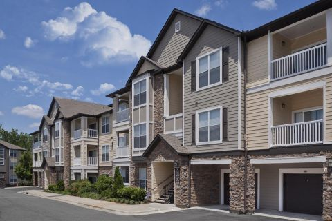 Garages at Camden Asbury Village Apartments in Raleigh, NC