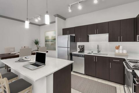 Open concept living at Camden Asbury Village Apartments in Raleigh, NC