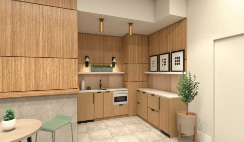 Game Room Kitchen at Camden Atlantic Apartments in Plantation, FL