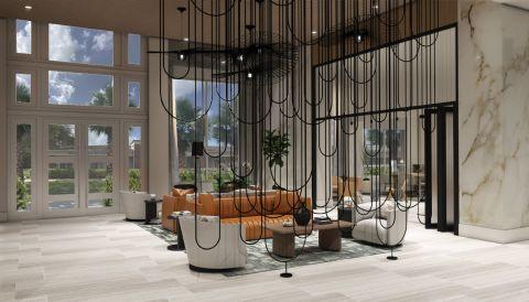 Lobby at Camden Atlantic Apartments in Plantation, FL