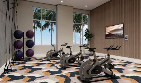 Yoga and Spin Room at Camden Atlantic Apartments in Plantation, FL