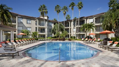 Pool at Camden Aventura Apartments in Aventura, FL