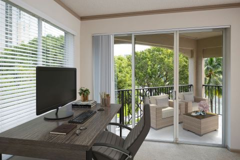 Home Office at Camden Aventura Apartments in Aventura, FL