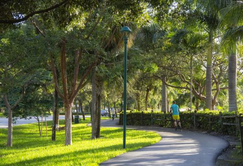 Exercise Trail Near Camden Aventura Apartments in Aventura, FL