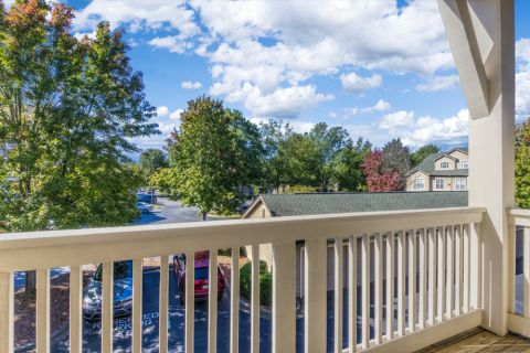 Balcony on Townhome Floor Plan at Camden Ballantyne Apartments in Charlotte, NC