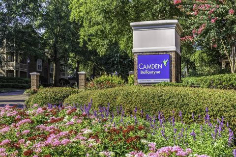 Exterior Signage at Camden Ballantyne Apartments in Charlotte, NC