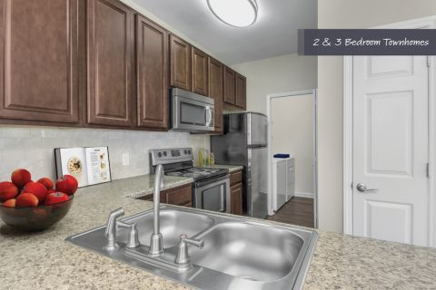 Townhome Kitchen at Camden Ballantyne Apartments in Charlotte, NC