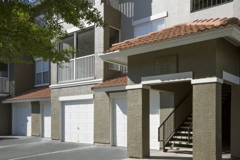 Attached Garages at Camden Bay Apartments in Tampa, FL