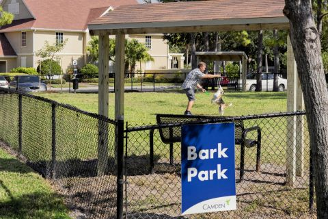 Dog Park at Camden Bay Apartments in Tampa, FL