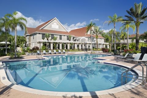 Pool at Camden Bay Apartments in Tampa, FL