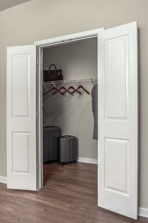 Large closets at Camden Belleview Station Apartments in Denver, CO