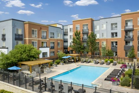 Swimming Pool at Camden Belleview Station Apartments in Denver, CO