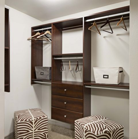 Closet with Shelving at Camden Belmont Apartments in Dallas, TX
