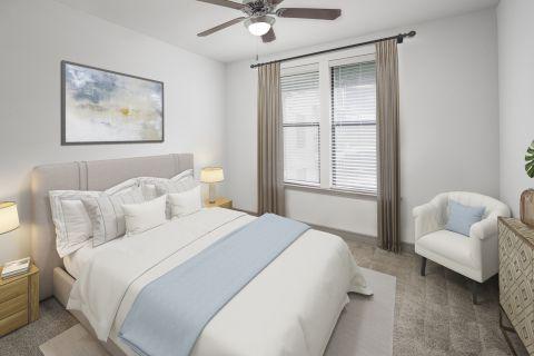 Bedroom at Camden Belmont Apartments in Dallas, TX