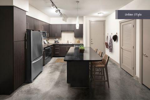 Urban Style Kitchen at Camden Belmont Apartments in Dallas, TX
