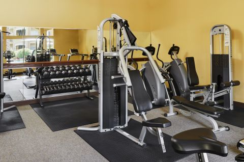 24 Hour Fitness Center with Cardio and Free Weights at Camden Breakers Apartments in Corpus Christi, TX