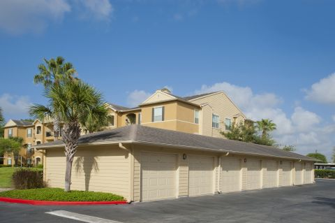 Garages and Carports at Camden Breakers Apartments in Corpus Christi, TX