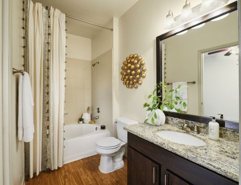 Bathroom with Garden Tub at Camden Breakers Apartments in Corpus Christi, TX