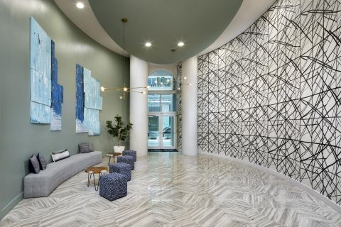 Lobby at Camden Brickell Apartments in Miami, FL