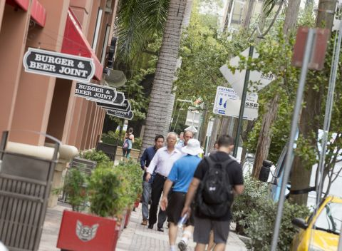 Walkable Neighborhood at Camden Brickell Apartments in Miami, FL