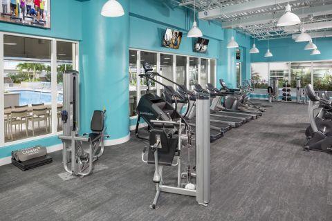 Fitness Center Equipment at Camden Brickell Apartments in Miami, FL