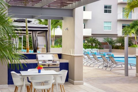 Grill Pavilion at Camden Brickell Apartments in Miami, FL