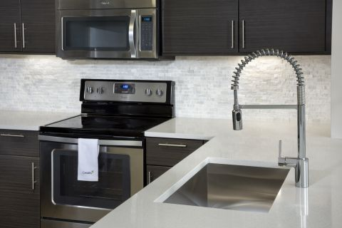 Kitchen at Camden Brickell Apartments in Miami, FL