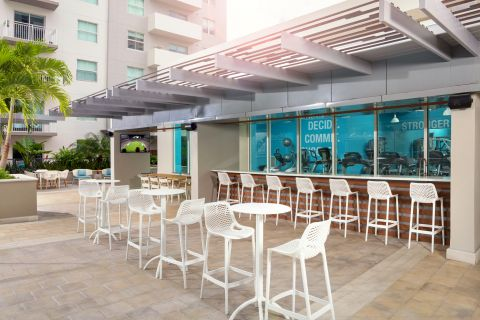 Outdoor Lounge at Camden Brickell Apartments in Miami, FL