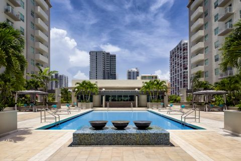 Pool at Camden Brickell Apartments in Miami, FL