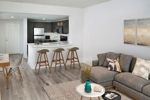Home Office at Camden Brickell Apartments in Miami, FL