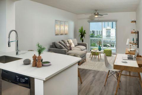 Kitchen at Camden Brickell Apartments in Miami, FL